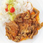 Bravčové mäso na hubách a rasci