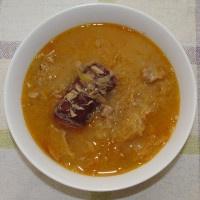 Kapustová polievka na kyslo