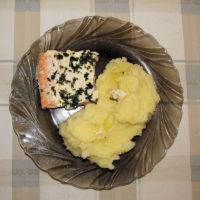 Losos pečený na masle