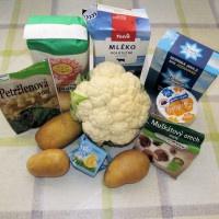 Suroviny na karfiólovú polievku