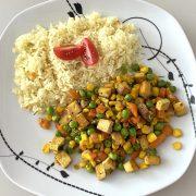 Údené tofu so zeleninou